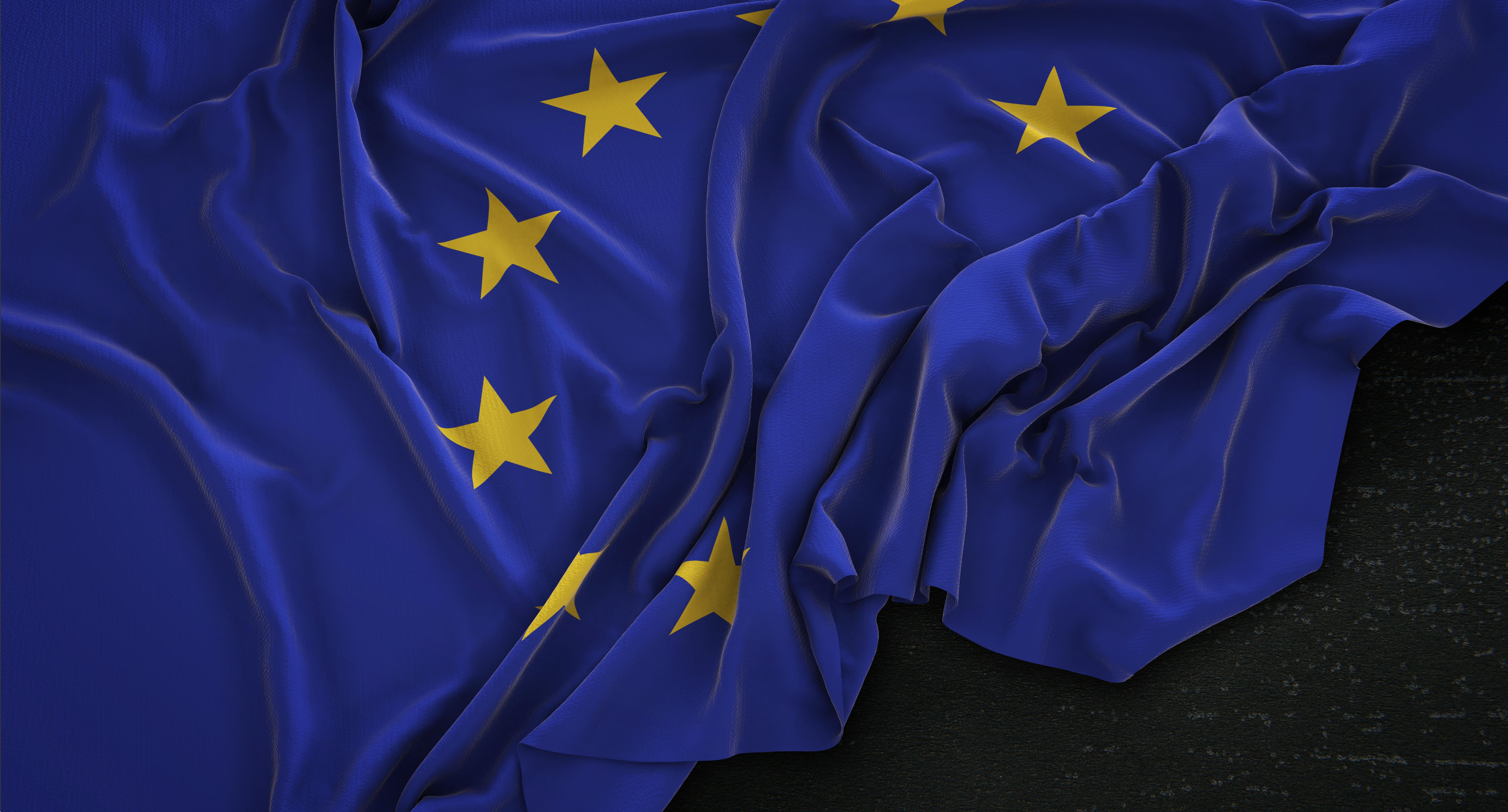 drapeau européen où le RGPD sera appliqué