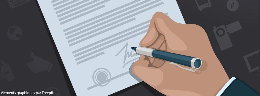 Signature de contrats de travail
